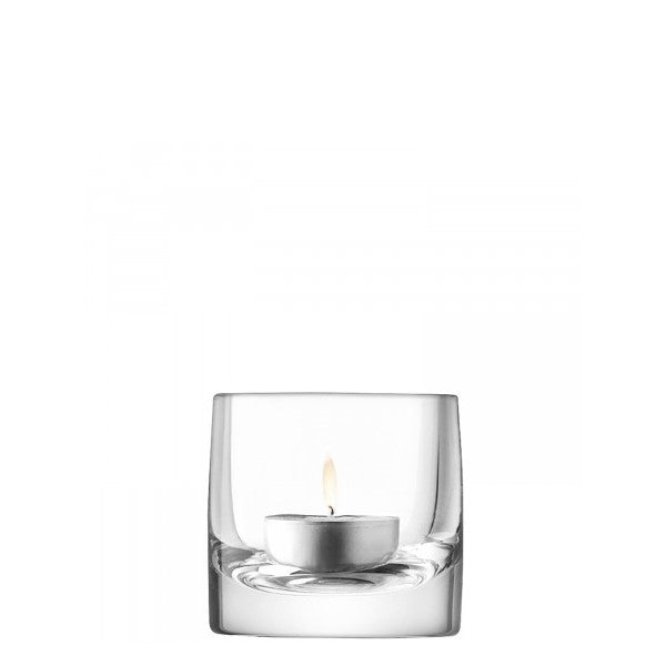 Stem tealight holder 7cm clear
