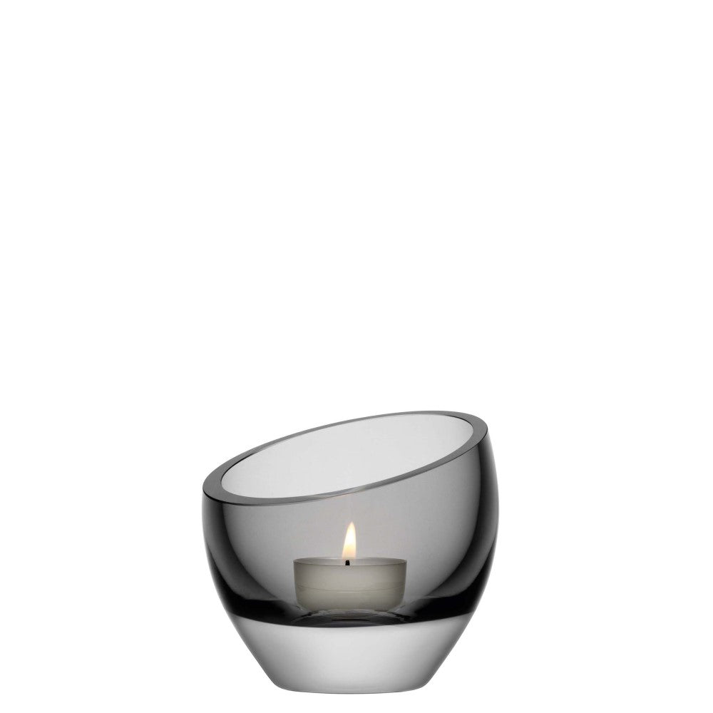 Lazlo tealight holder 9.5cm pale grey