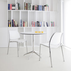 Gas side chair, white