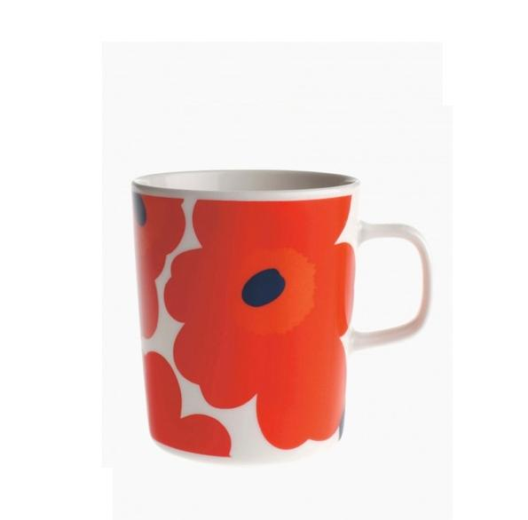 Oiva Unikko Mug White Red