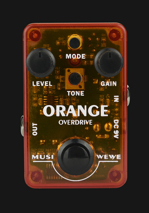 Musiwewe Orange Overdrive Guitar Effect Pedal