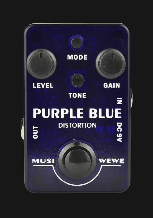 Musiwewe Purple Blue Distortion Guitar Effect Pedal