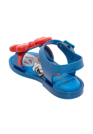 Mini Melissa Mar Sandal + Snow White (Blue Glitter/Red) - MDreams Malaysia