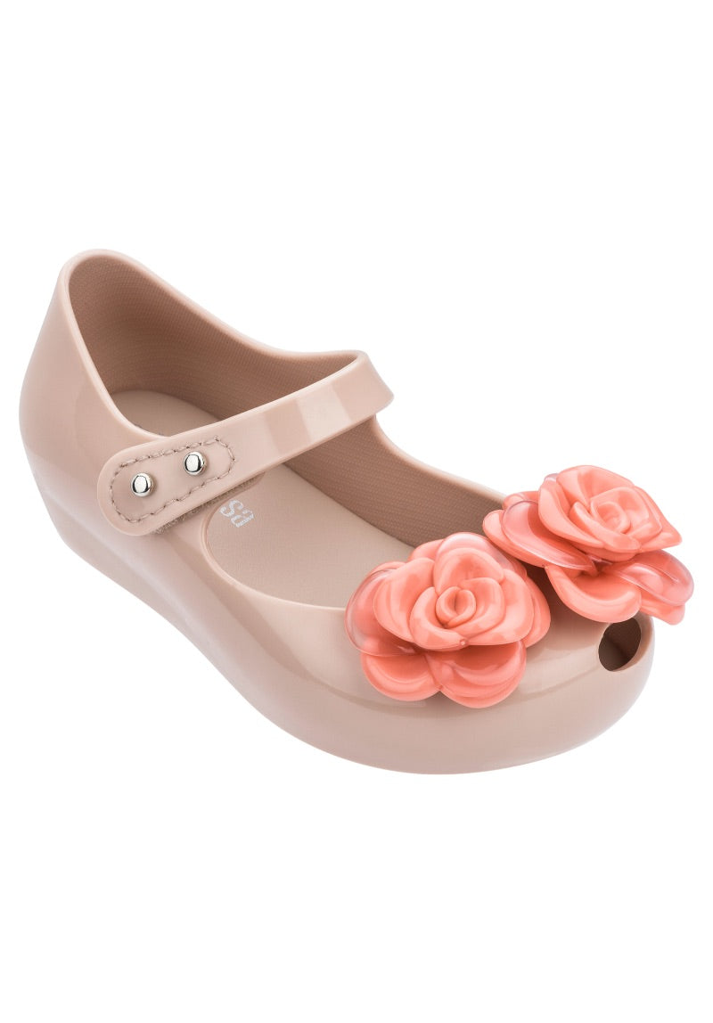 Mini Melissa Ultragirl Flower (Beige/Pink)