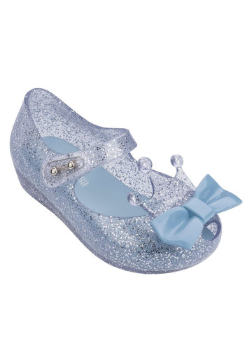 Mini Melissa Ultragirl Princess Me (Silver Glitter Clear / Blue)