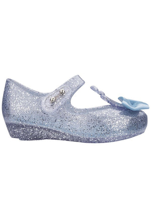 Mini Melissa Ultragirl Princess Me (Silver Glitter Clear / Blue) - MDreams Malaysia