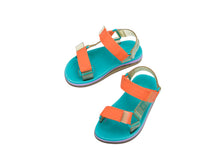 Mini Melissa Papete + Rider Kids - Blue Yellow Orange