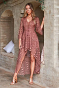 BOHO High Low Dress - Mauve - Drop Dead Dollbaby