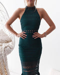 RIVERS Midi Dress (Emerald)