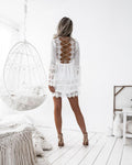 ROMANIA Dress - White - Drop Dead Dollbaby