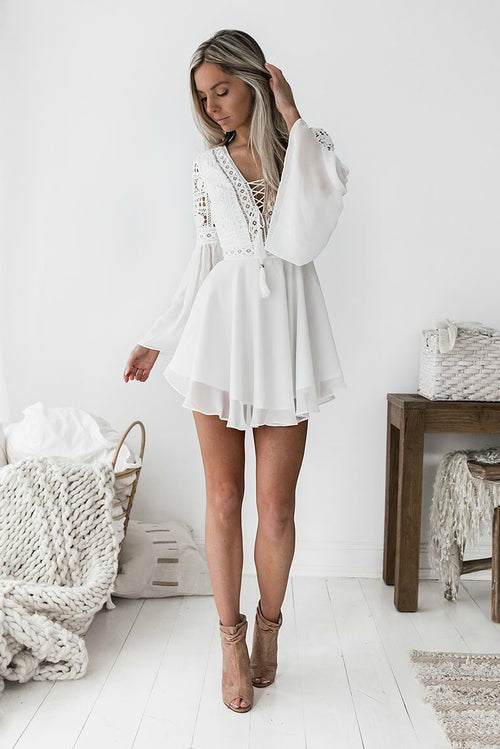 ALYSE Dress - White - Drop Dead Dollbaby