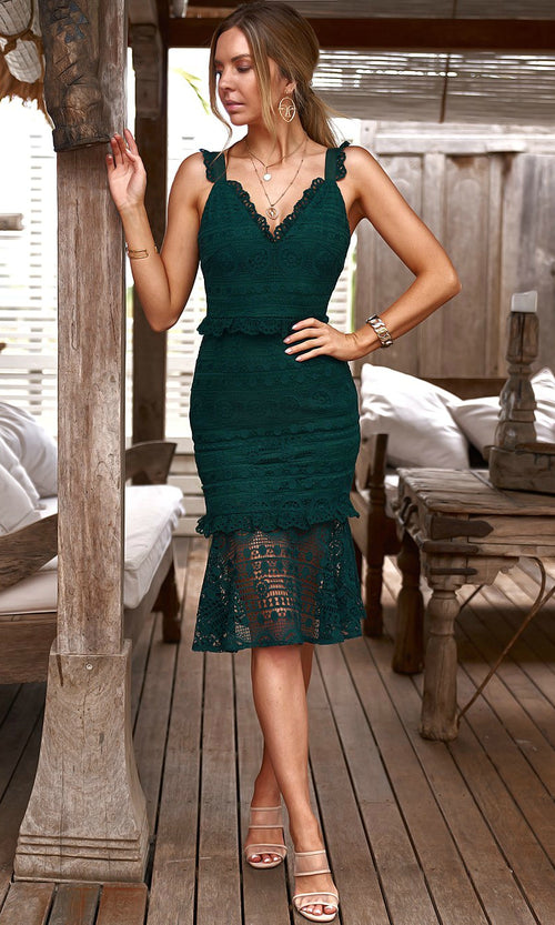 CORDELIA Dress (Emerald)