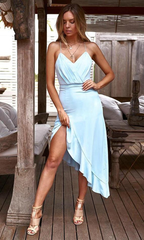 MORGAN Dress (Baby Blue)