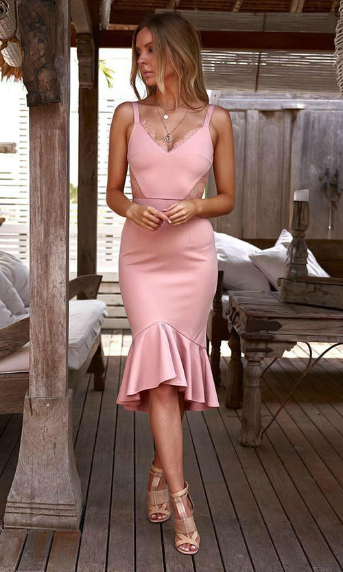 SANTIAGO Dress (Pink) - Drop Dead Dollbaby