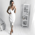 KHALEESI Dress (White) - Drop Dead Dollbaby