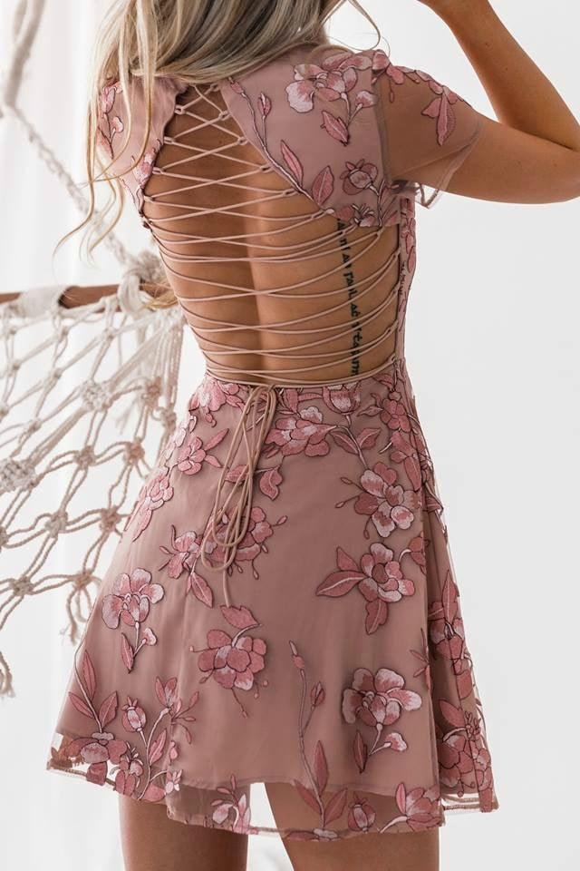 SASKIA Dress - Embroidery Rose - Drop Dead Dollbaby
