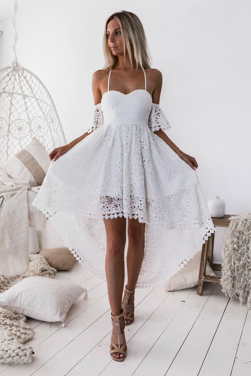 KARLIE Dress - White - Drop Dead Dollbaby