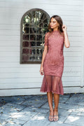 CRYSTAL Dress - Mauve - Drop Dead Dollbaby