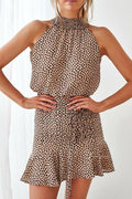 PIP Dress - Leopard Print - Drop Dead Dollbaby