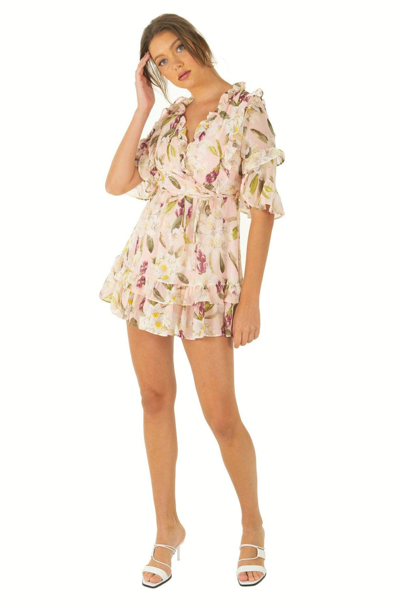 REMI Dress - Pink Floral - Drop Dead Dollbaby