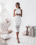RIVERS Midi Dress - White - Drop Dead Dollbaby