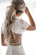 SHAY LACE Dress (White) - Drop Dead Dollbaby
