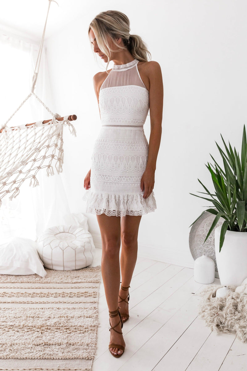 VICKY Dress - White - Drop Dead Dollbaby