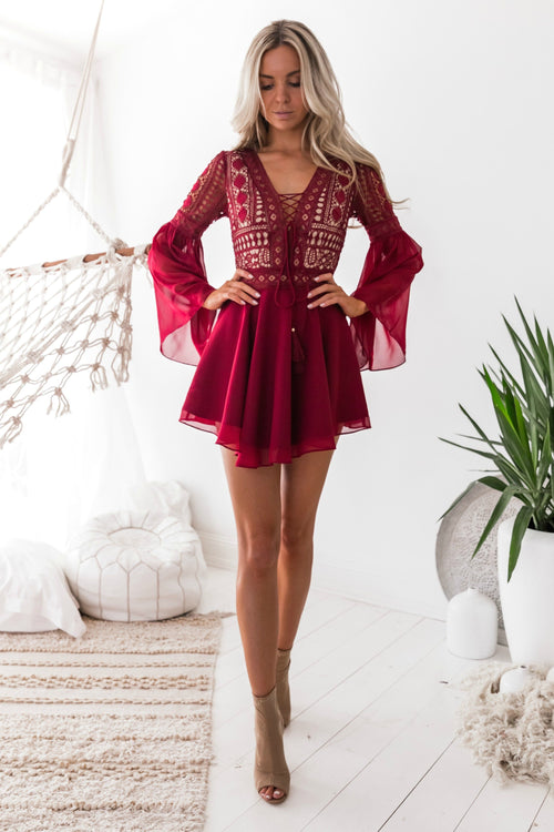 ALYSE Dress (Red) - Drop Dead Dollbaby