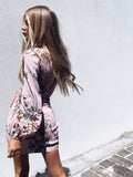 EVE Dress - Pink Print - Drop Dead Dollbaby