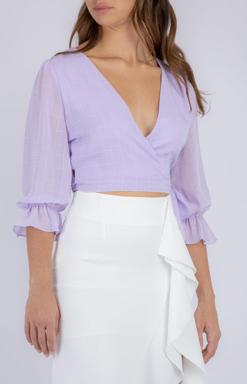 MADDIE Crop - Lilac - Drop Dead Dollbaby