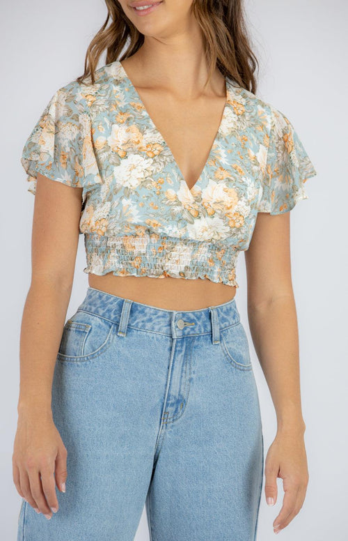 MAGNOLIA Crop - Blue - Drop Dead Dollbaby
