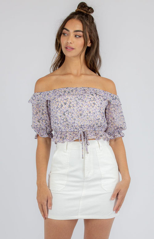 JOSLYN Crop - Lilac - Drop Dead Dollbaby