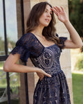 REMIE Dress - Navy - Drop Dead Dollbaby