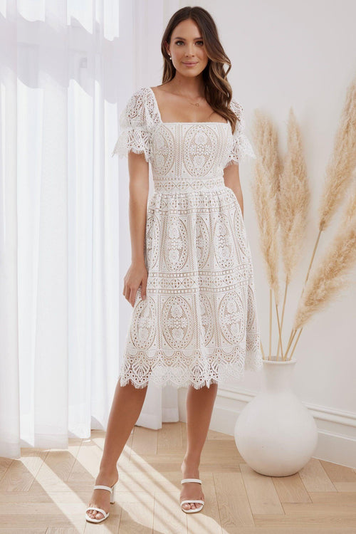 REMIE Dress - White - Drop Dead Dollbaby