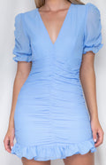 BLAIR Dress - Baby Blue - Drop Dead Dollbaby