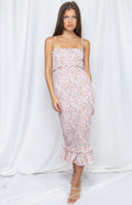 MIRANDA Midi Dress - Blush - Drop Dead Dollbaby