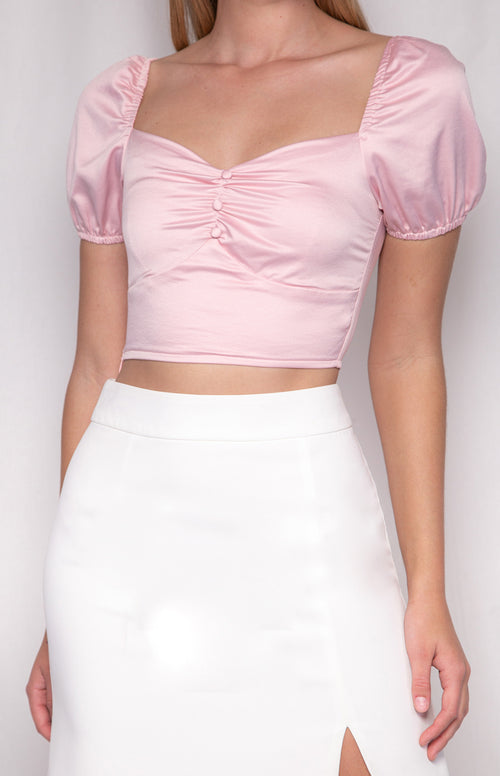 EVA Crop - Baby Pink - Drop Dead Dollbaby