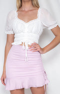 WILLOW Crop - White - Drop Dead Dollbaby