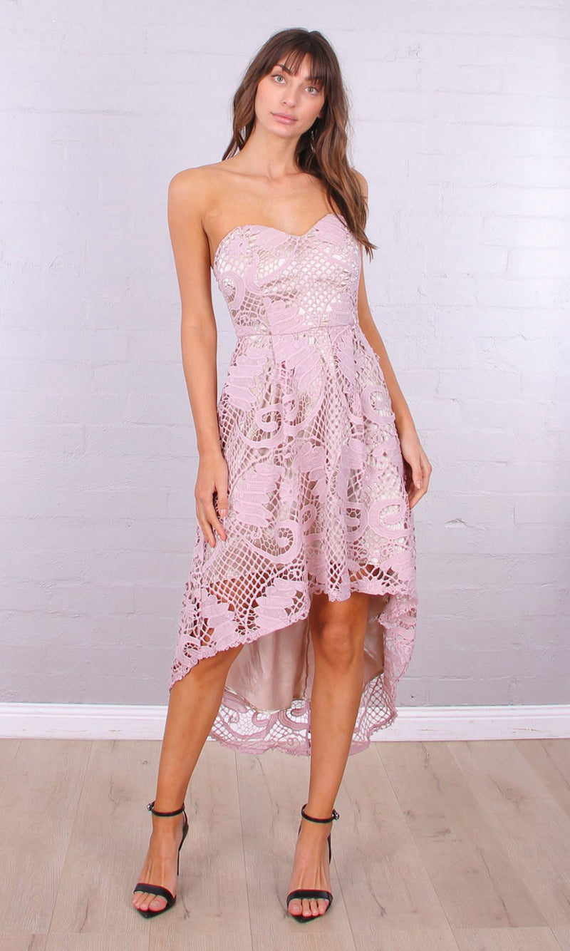 GABRIELLA High Low Dress (Pink)