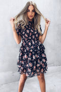 BLAKE Dress - Black Floral - Drop Dead Dollbaby