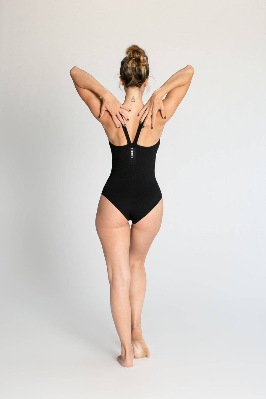 Ballerina Leotard womens clothing rippleyogawear XS black
