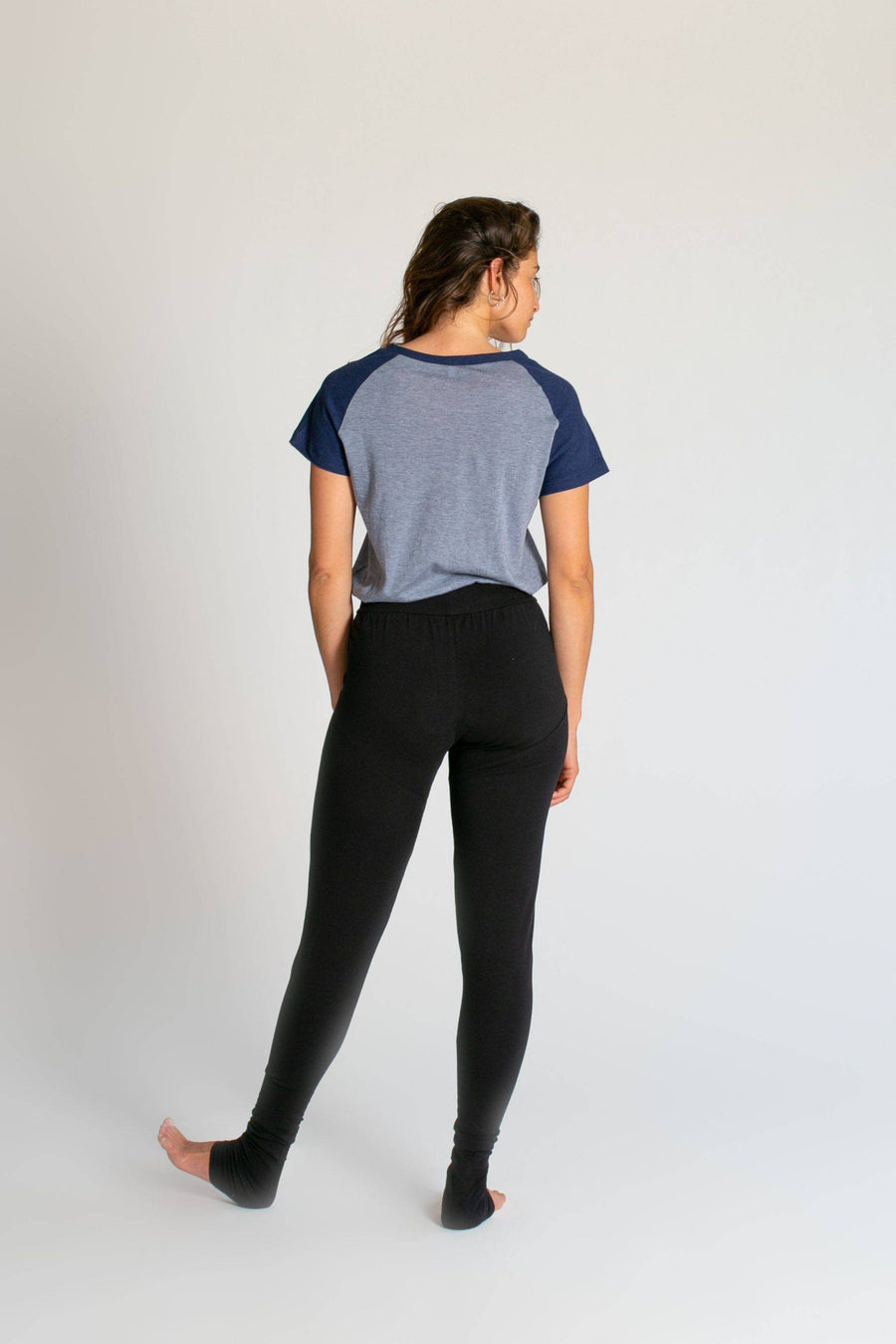 Limited Edition Raglan T-Shirt womens clothing rippleyogawear S light-blue-and-navy-pique