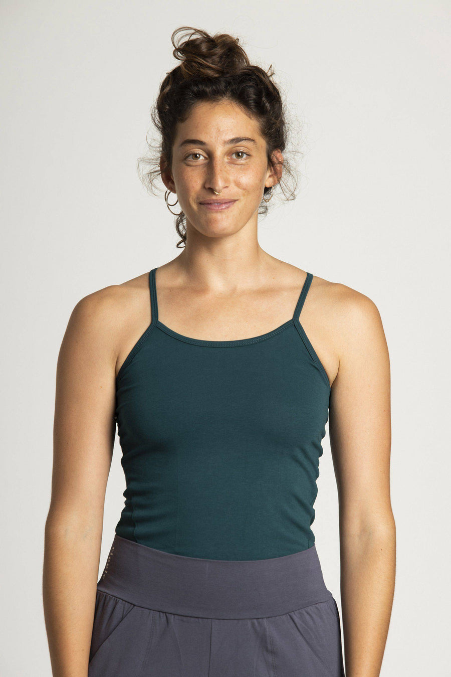 Organic Cotton Criss Cross Tank Top womens clothing rippleyogawear