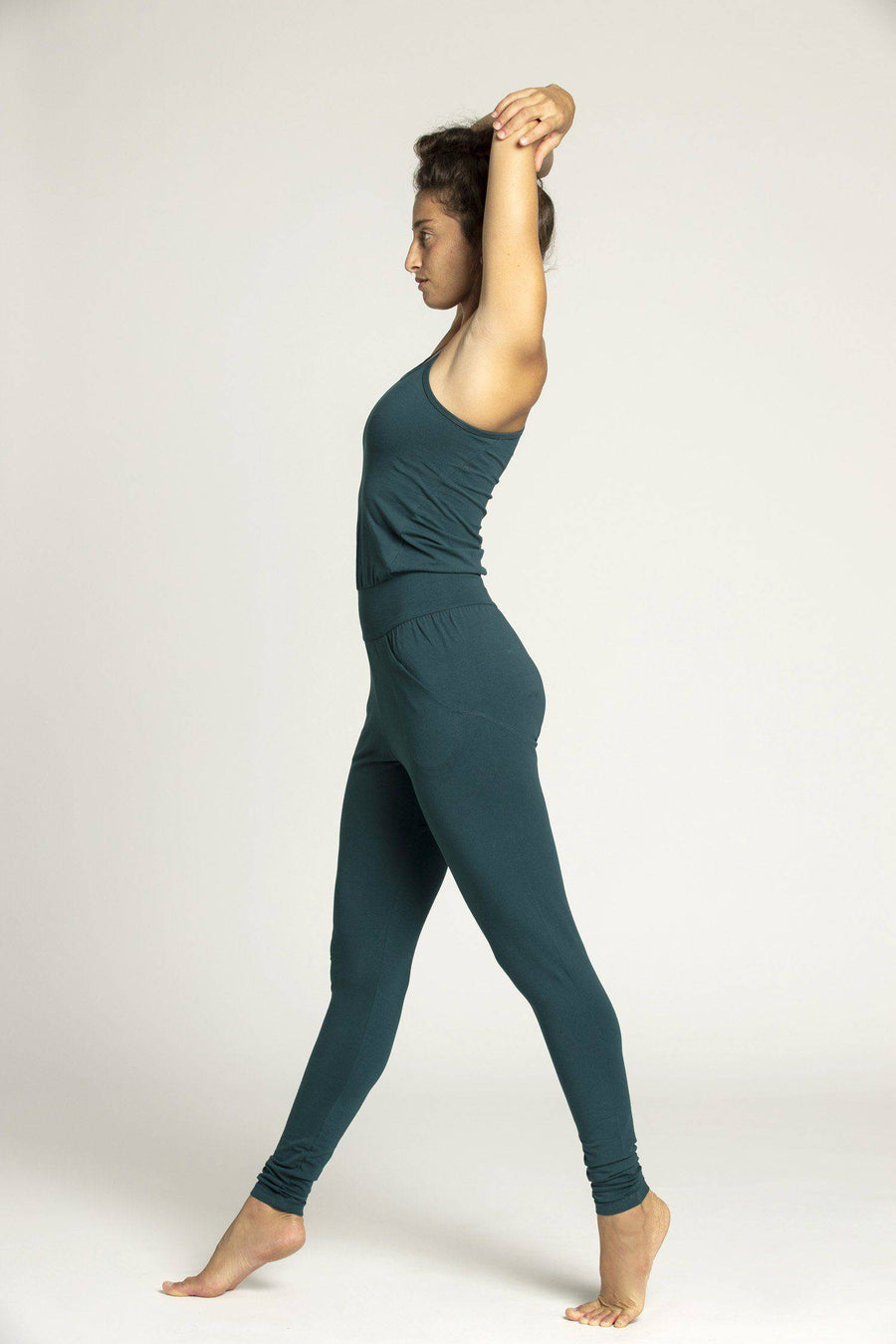 Organic Cotton Long Jumpsuit - womens clothing - Ripple Yoga Wear
