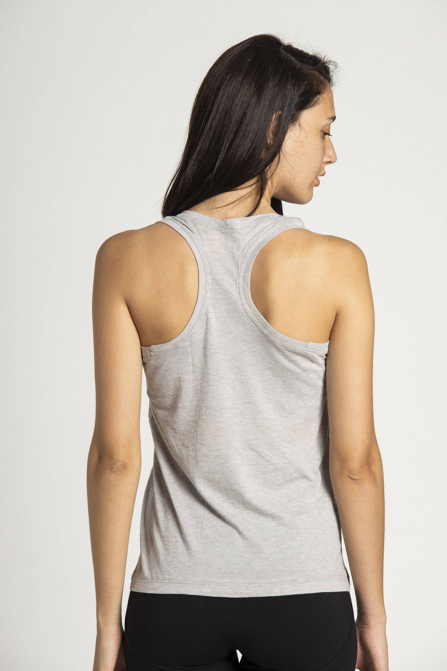 OUTLET Cotton Tissue Racer Back Tank Top womens clothing rippleyogawear