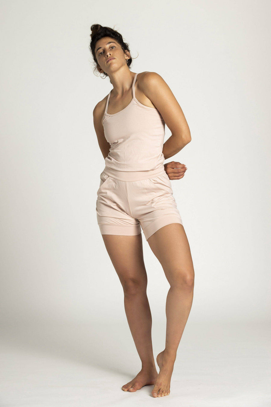 Short yoga Jumpsuit womens clothing rippleyogawear pink S