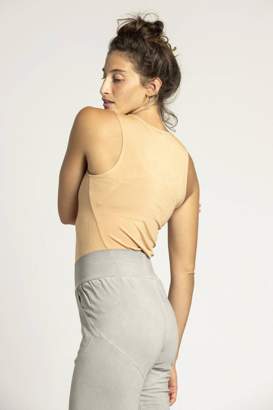 Silky Smooth Tank Top womens clothing rippleyogawear mellow apricot S