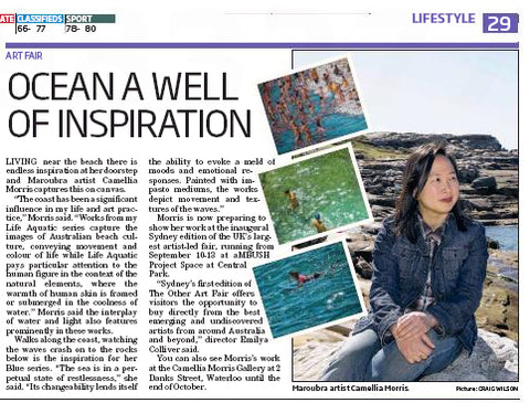 Camellia Morris and her artwork is profiled in The Southern Courier newspaper