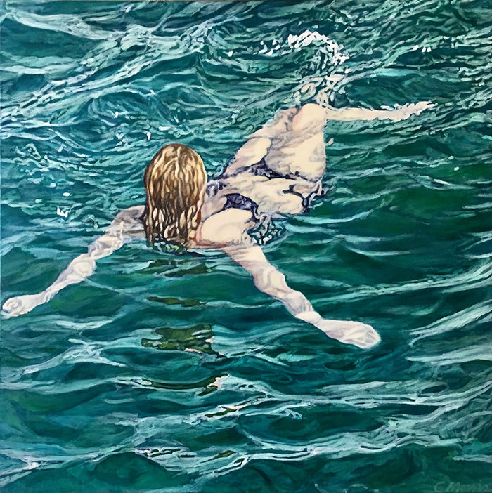 Adrift, oil on canvas, 61 x 61 cm, Framed, SOLD