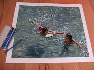 'Making Waves' Limited Edition Print Handsided by Camellia Morris